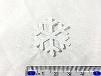 Нашивка снежинка белая 35мм