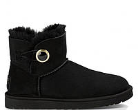 Женские сапоги UGG Bailey Button Mini Ornate Black