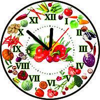 Настенные часы для кухни Овощи