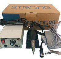 Фрезер для ногтей, машинка для маникюра, микромотор, бормашина Strong - 90, 35 000 об.мин. Мощность - 65 Вт