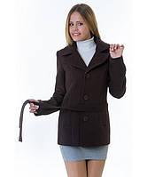Пальто женское модель №15 жакет шоколадное (весна/осень), р.40-48