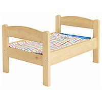 Кровать для куклы и набор постельного белья DUKTIG, сосна, разноцветный, IKEA, 400.863.51
