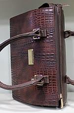 Сумка Женская строгая коричневая 17-536-2, фото 2