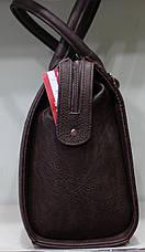 Сумка Женская строгая коричневая 17-536-2, фото 3