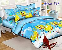 Детский комплект постельного белья  Спанч Боб