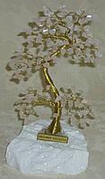 Дерево счастья большое с камнями розового кварца (17 см)