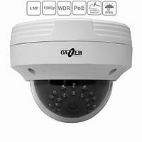 Сетевая IP видеокамера Gazer CI224 (3,6мм) купольная антивандальная, 4MP, POE, ИК 15м
