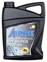 Моторное масло ALPINE 15W40 RST Super 4L минералка ( SJ/CF-4 , A3/B4 , E2 , MB 229.1 )