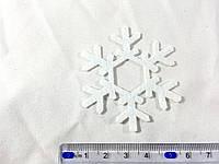 Нашивка снежинка белая 60 мм