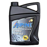 Моторное масло для TIR грузовиков ALPINE 15W40 Turbo 5L минералка ( SJ/CF-4 , A3/B4 , E2 , MB 229.1 )