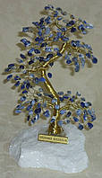 Дерево счастья большое с камнями содалита (17 см), фото 1