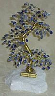 Дерево счастья большое с камнями содалита (17 см)