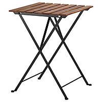 TÄRNÖ Садовый стол, черный акация, сталь серо-коричневая морилка, фото 1
