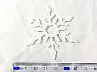 Нашивка снежинка белая 65 мм