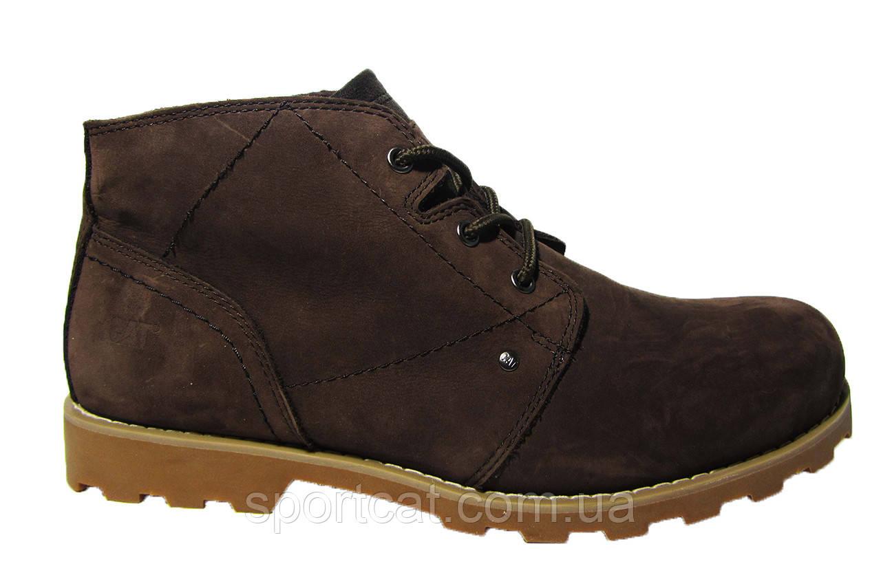 Мужские ботинки CAT,  нубук, натуральный мех. Р. 45