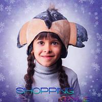 Детская новогодняя шапка