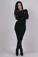Женское платье машинная вязка