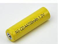 Аккумулятор АА  700 мАч, 1,2 В.
