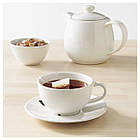 VARDAGEN Чашка для чая и блюдце, кремовый 802.883.14, фото 3