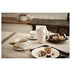 VARDAGEN Чашка для чая и блюдце, кремовый 802.883.14, фото 4