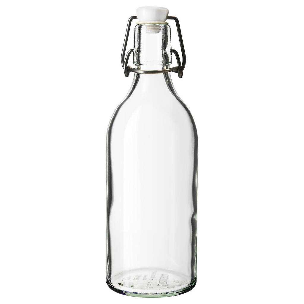KORKEN Бутылка с пробкой, прозрачное стекло