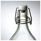 KORKEN Бутылка с пробкой, прозрачное стекло, фото 2