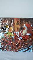 Салфетки бумажные Санта с подарками 33*33см (20 шт)