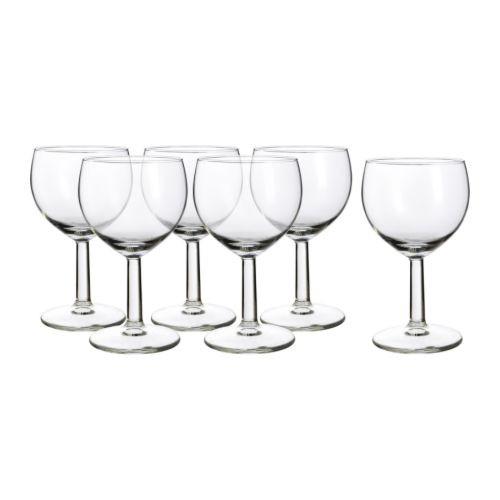 FÖRSIKTIGT Бокал для вина, стекло, прозрачный 803.002.07