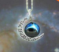 Колье ожерелье стекло галактики