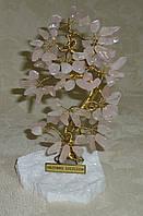 Дерево счастья среднее с камнями розового кварца (16 см)