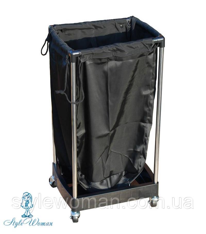 Тележка с мешком для полотенец черная №203