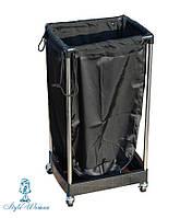 Тележка с мешком для полотенец черная №203 , фото 1