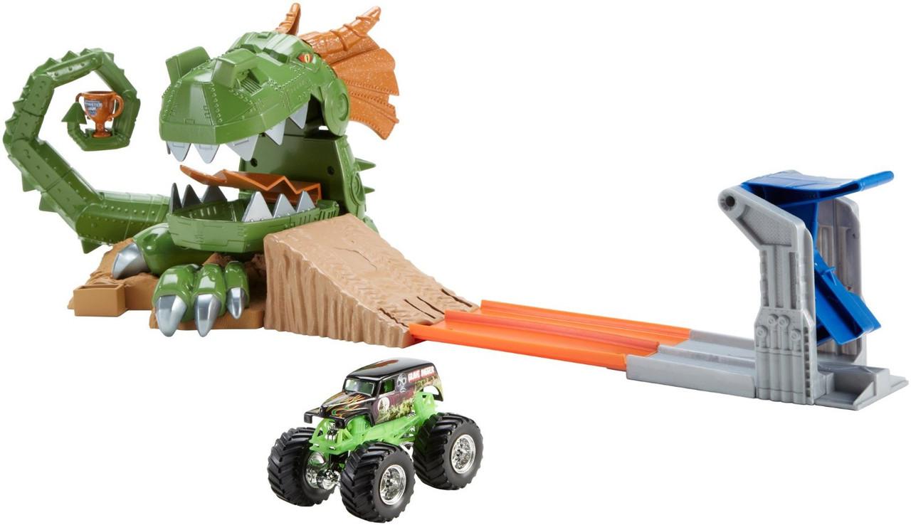Трек Хот Вилс Монстер Джем атака дракона Hot Wheels Monster Jam Dragon Arena Attack Playset