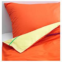 STICKAT Комплект постельного белья, оранжевый, желтый