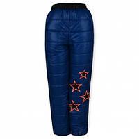 Детские утепленные штаны на девочку, синие р.98-116