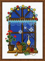 Набор для вышивания крестом Риолис «Зимнее окошко» (1592)