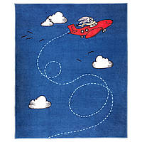 FLYGTUR Ковер с коротким ворсом, синий