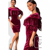 Платье женское вечернее велюровое №567-4,магазин платьев