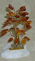 Дерево счастья  с камнями янтаря (9см)