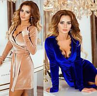 Платье женское на запах, ткань бархат, много цветов ,хорошее качество ам1 № 8672