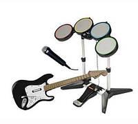 Музыкальный набор ROCKBAND BUNDLE (SPS2/SPS3) с диском PS3/Rock Revolution, фото 1