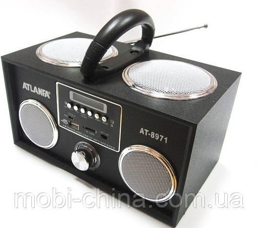 Акустическая колонка  Atlanfa AT-8971 MP3 SD USB FM , black, фото 2