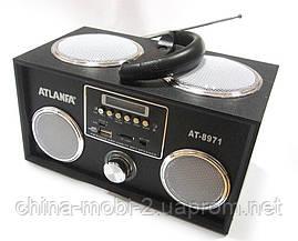 Акустическая колонка  Atlanfa AT-8971 MP3 SD USB FM , black, фото 3