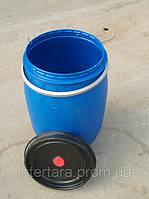 Бочка 120 литров б/у пластиковая со съемной крышкой и хомутом б/у (техническая)