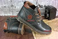 Добротные мужские ботинки, Натуральная кожа, теплый мех. Змейка. мод 2018