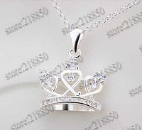 Серебряное ожерелье корона