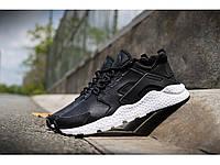 Мужские черные кожаные кроссовки Nike Huarache 15W