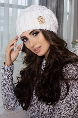 Зимняя женская шерстяная шапка колпак Лисет, шапки женские, фото 2