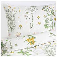 STRANDKRYPA Комплект постельного белья, с цветочным узором, белый