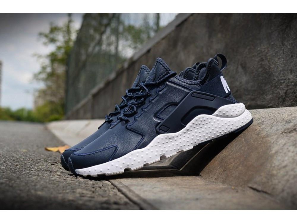 Мужские Синие Кожаные Кроссовки Nike Huarache 16W — в Категории ... 3cd46b344a8